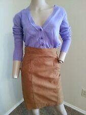 Vtg Krizia Italy 100% Sheepskin Distressed High Waisted Wiggle Pencil Skirt 40
