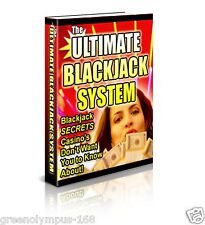 Ultimate Blackjack System Ebook or CD and resell rights ++++