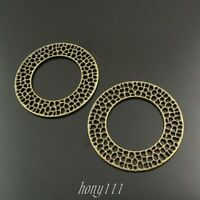10pcs Vintage Bronze Alloy Round Hollow Circle Pendant Charms Jewelry 37981