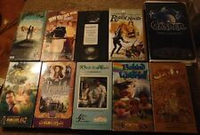 Lot of 10 ASSORTED Family Film VHS Tapes - Feature Films for Families +