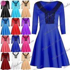 Unbranded Polyester V-Neck 3/4 Sleeve Dresses for Women