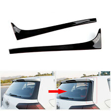 2x Rear Window Spoiler Side Wing Trim Cover For VW Golf 7 7.5 MK7 MK7.5 14-18