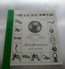 1980 Lustre Line Products Catalog and Order Blank Locksmith Supplies
