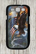AMERICAN EAGLE AND FLAG #2 FOR SAMSUNG GALAXY S3 CASE COVER -kp44df