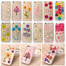 Pressed Dried Flower Daisy Transparent Soft Case Cover For iPhone SE 8 6s 7 Plus