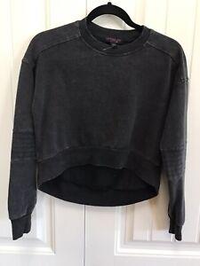 Material Girl Active NWOT S Gray Long Sleeve Crop Sweatshirt $39 B108