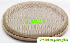 1pcs 6 * 9 inch Beige car speaker grilles Car audio modified net cover 263*187mm