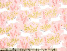 Michael Miller Sarah Jane Magic Unicorn Forest Blossom Metallic Fabric