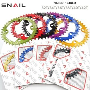 SNAIL Alloy Bicycle Round Wide Chain Ring 32T-42T BCD104 Crankset Tooth Plate