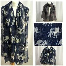 Women Ladies Summer  Long New Elephant  Print Shawl Scarf Warp Stole Big Scarves