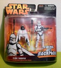 STAR WARS CARDED REVENGE SITH CLONE TROOPER FIRING JET BACKPACK