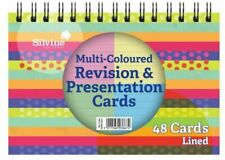 Silvine Revision and Presentation Cards 152x102mm Assorted Colours