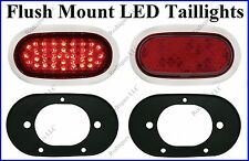 Flat Mount Red LED Taillights Roll Pan Bumper Custom Chevy Pickup Truck F4248