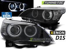 Faros Xenon para bmw e60/e61 05-07 CCFL HID d1s dual projector negro
