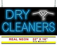 "Dry Cleaners Neon Sign | Jantec | 32"" x 16"" 