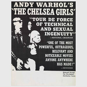Andy Warhol Rare Original c.1966 Vintage The Chelsea Girls Poster