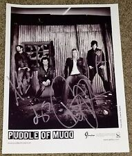 Puddle Of Mudd Autographed Press Photo Full Band Signed By 4 WES SCANTLIN