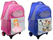 Personalised Child's Trolley Suitcase Back Pack Ideal for Nursery Playschool