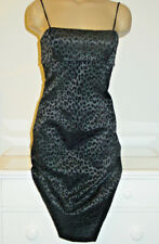 Guess black leopard print in velvet dress straight wiggle pencil-5-NWT-$88-NEW