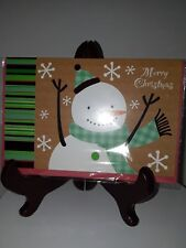 Christmas Card with envelope - New -unused wrapped P. S. Greetings 'Snowman