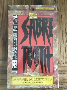 Marvel Milestones SABRETOOTH sealed Collectors Pack #1-4 in NM/MINT condition
