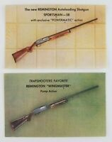 Postcard Remington Wingmaster Sportsman 58 Pump Action Shotgun Lot of 2