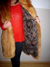 XL - Red Golden Fox Fur Vest with Detachable Hood Jacket Stroller Coat