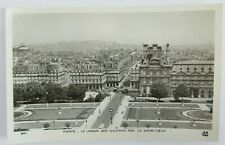 Antique RPPC Photo Postcard PARIS - LE JARDIN DES TUILERIES AVEC LE SACHE COEUR