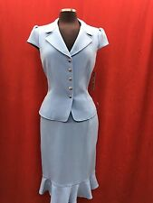 TAHARI BY ARTHUR LEVINE SKIRT SUIT/LIGHT BLUE/SIZE 16/RETAIL$280/LINED/NEW W TAG