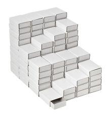 100 Streichholzschachteln weiß Schachtel leer Blanko zum basteln 9900.0306