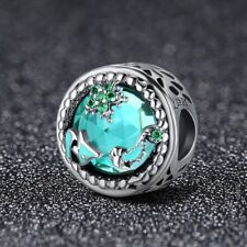 Silver Mystery Ocean Charm With Cubic Zirconia Stones. Genuinely Stamped S925