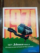 Vintage 1971 Johnson Reels Catalog