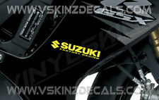 2x Suzuki Factory Racing Premium Cast Decals Stickers GS GSXR 1000 750 600 140mm