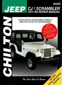 1979 Jeep CJ Wrangler Scrambler Shop Service Repair Manual Engine Drivetrain OEM