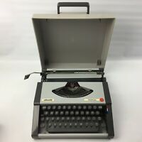 Vintage Olivetti Tropical Manual Typewriter Retro Portable In Original Case