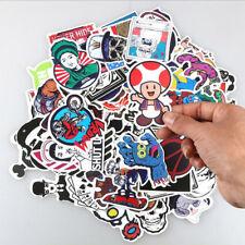 1 Set 50pc Skateboard Sticker Skate Graffiti Laptop Luggage Car Bomb Vinyl Decal