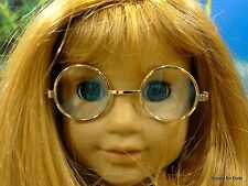 """**SALE** GOLD Wire Rimmed DOLL EYE GLASSES fits 18"""" AMERICAN GIRL Doll Clothes"""