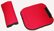 Baby Red Black Car Seat Pram Highchair Harness Belt Cover Pads x 2 - Travel Aid