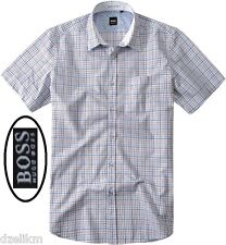NWT Hugo Boss Black Label By Hugo Boss Short Sleeves Chest Pocket Shirt Size XL