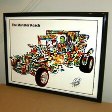 The Munsters Koach Herman Munster Car Racing Poster Print Wall Art Decor 18x24