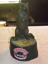 VINTAGE BAR 1986 GRIZZLY BEER (BEAR) CANADIAN LAGER PLASTIC STORE DISPLAY