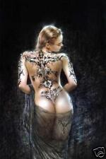 "Luis Royo Tattoo and Veil 29X43"" (75X110cm) Cloth Fabric Textile Poster Flag-New"