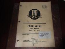 John Deere Model 435D 4401D Tractor I + T Shop Service Manual