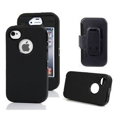 Hard Rugged Protective Defender Shockproof Cover Case For Apple iPhone 4 /4S