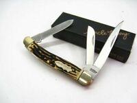 Schrade 897UH Uncle Henry Staglon Premium Stock 3 Blade Folding Pocket Knife