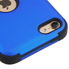 FOR APPLE IPOD TOUCH 5 6 5TH 6TH GEN BLUE BLACK SHOCK TUFF CASE COVER