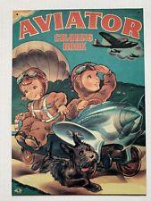 Hallmark Kiddie Car Classics 1943 Aviator Coloring Book Cover Tin Sign #Qhg5602