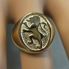 9ct gold new rampant lion of scotland ring