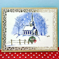 COUNTRY CHURCH RETIRED U get photo #2 L@@K@example ART IMPRESSIONS RUBBER STAMPS