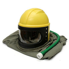 Yes New Sandblast Helmet Abs Len Pvc Cloak Pipe Sand Blast For Sandblasting Y2R3